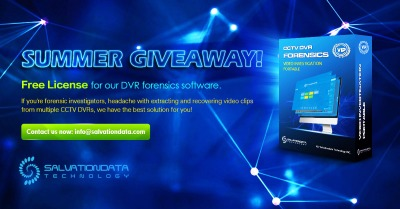 SalvationDATA DVR forensics software VIP summer giveaway