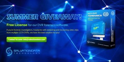 SalvationDATA DVR forensics software VIP summer giveaway