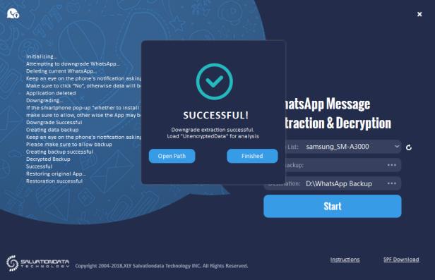 SalvationDATA Mobile Forensics Decrypt Encrypted WhatsApp Database