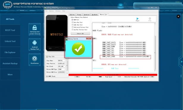 Mobile Forensics MTK data extraction SalvationDATA